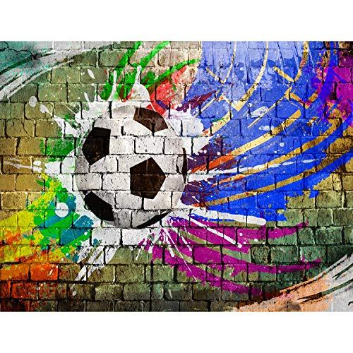 tapisserie photo football graffiti laine papier peint salon chambre bureau couloir d coration. Black Bedroom Furniture Sets. Home Design Ideas