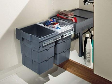 2-Containers-Ninka-Wasteboy-32-Litre-Kitchen-Pull-Out-Bin-400mm-Wide-Cabinet-2-Container-2x16-litre-0