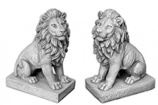2-petits-magnifiques-lions-Gardiens-En-pierre-rsistante-au-gel-0