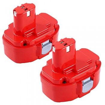 2PCSDosctt-18V-3000mAh-Ni-MH-Batterie-de-Replacement-pour-Makita-PA18-1822-1823-1834-1835-192826-5-192827-3-192829-9-193159-1-193140-2-193102-0-194105-7-0