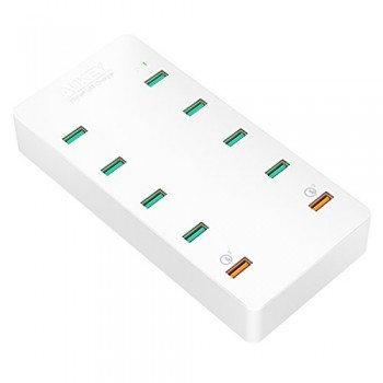 AUKEY-Quick-Charge-30-Chargeur-Secteur-USB-10-Ports-USB-pour-iPhone-7-iPad-AirPro-Samsung-Galaxy-S8-et-Autres-0