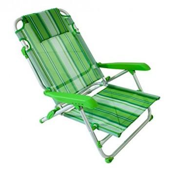 Chaise-de-Plage-Chaise-de-Plage-en-Aluminium-avec-4-Positions-0