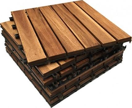 Click-Deck-Lot-de-dalles-en-bois-dacacia-carres-embotables-pour-terrasse-patio-ou-jardin-30-cm-x-30-cm-x-25-cm-0