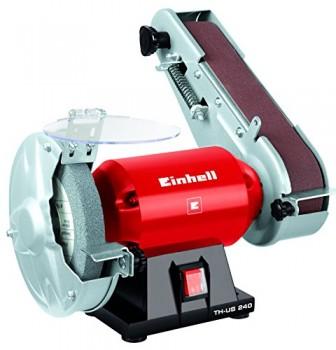 Einhell-Touret--meuler-et-ponceuse-TH-US-240-240-W-Rgime-2950-trsmin-Dimensions-du-disque-de-ponage--150-x--127-x-20-mm-Dimensions-de-la-bande-de-ponage-50-x-686-mm-Vitesse-de-la-bande-900-mmin-0