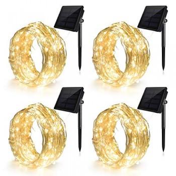 Guirlandes-Lumineuses-Solaire-100LED-Lot-de-4-Fil-de-Cuivre--3-Torons-Ankway-12M-Guirlande-Lumineuse-Noel-8-Modes-Decoration-Lumineuse-Solaire-pour-Extrieur-Jardin-Mariage-et-Fte-Blanc-Chaud-0