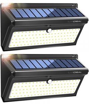 Lampe-Solaire-Exterieur100-LED-Extra-Lumineuses-Lumiere-Solaire-Exterieur-Detecteur-de-Mouvement-avec-Grand-Angle-et-Etanche-Sans-Fil-Applique-Solaire2-PACK-LUSCREAL-0