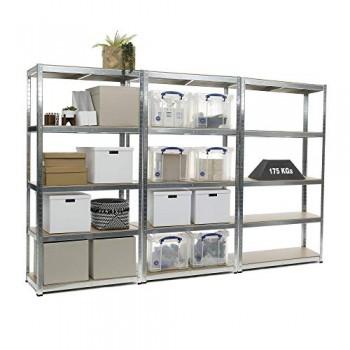 Racking-Solutions-3-units-de-rayonnage-tagres-garage-Galvanis-charges-lourdes-capacit-de-charge-totale-2625kg-5-niveaux-1800mm-H-x-900mm-L-x-400mm-P-Livraison-Gratuite-0