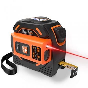 Tlmtre-Laser-Tacklife-Numrique-A-avec-LCD-Rtro-clairage-Metre-Laser-Calcule-Distance-Surface-Volume-pour-Bricolage-avec-2-Piles-et-Sac-de-Protection-0