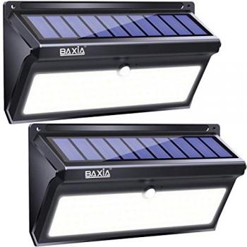 Version-Avance2000LM-Lampe-Solaire-Extrieur-BAXiA-100LED-Eclairage-Solaire-Detecteur-de-Mouvement-Applique-Solaire-Sans-Fil-clairage-Exterieur-pour-Jardin-Escalier-Maison-Patio-2-pices-0