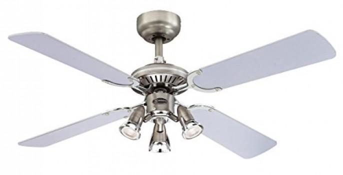 Westinghouse 7211240 princess euro ventilateur de plafond gu10 m tal tain pas cher avis - Comment choisir un ventilateur de plafond ...
