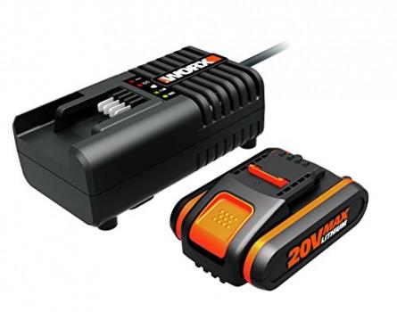 Worx-Power-Share-Set-de-20-V2000-mAh-Li-Ion-Batterie-Plus-Chargeur-1-pice-wa3601-0