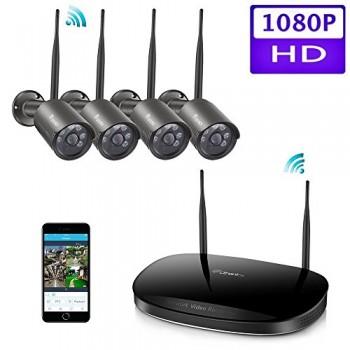 cran-Tactile-Kit-camra-de-Surveillance-24G-NVR-Kit-avec-cran-Tactile-9-et-WiFi-IP-camra-2-720p-Installation-intrieure-et-extrieur-0